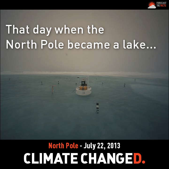 Has Global Warming Turned the North Pole Into a Lake?