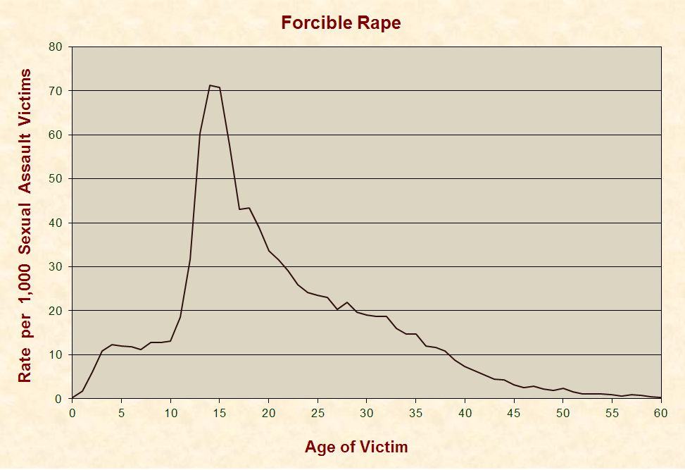 Forcible Rape - Statistics. Image Source: JustFacts.com (336)